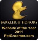 PetGroomer.com Awarded Barkleigh Honors for Website of the Year for 2011